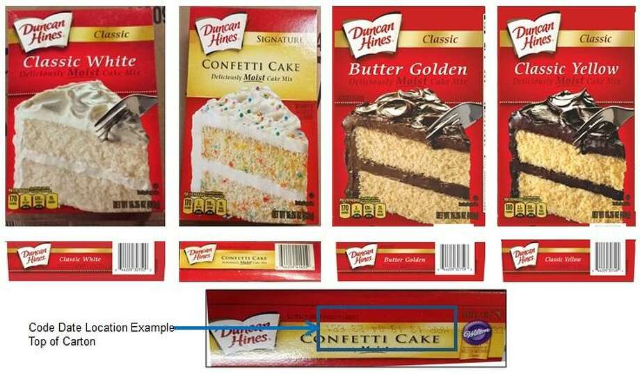 Salmonella fears have prompted Conagra Brands to pull several varieties of Duncan Hines cake mix from shelves. Photo: Contributed / U.S. Food And Drug Administration