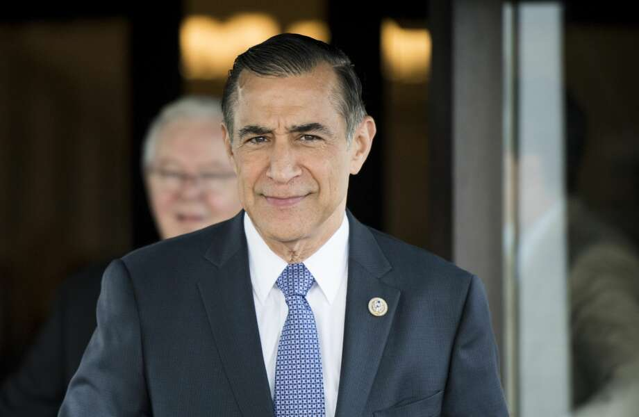 Rep. Darrell Issa, R-Calif., leaves the House Republican Conference meeting at the Capitol Hill Club in Washington on Wednesday morning, June 13, 2018. Photo: Bill Clark/CQ-Roll Call, Inc.