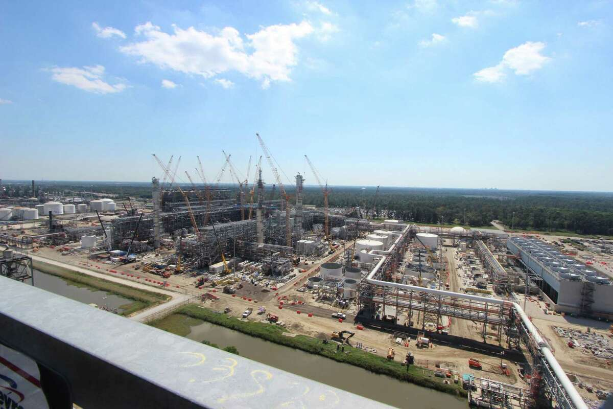 Construction is nearing completion of Chevron Phillips' massive petrochemical expansion at its Cedar Bayou plant east of Houston in Baytown.