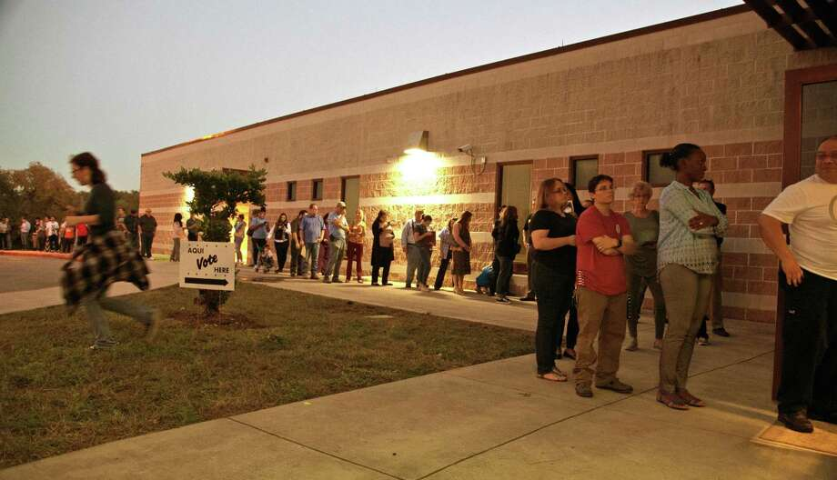 Voting at Wetmore Elementary had around 80 voters waiting inside and probably around 20 inside on November 6. Such turnout is rare in special runoff elections. Voters should change that when early voting starts Monday for House District 125. Photo: Ronald Cortes /Contributor / / 2018 Ronald Cortes