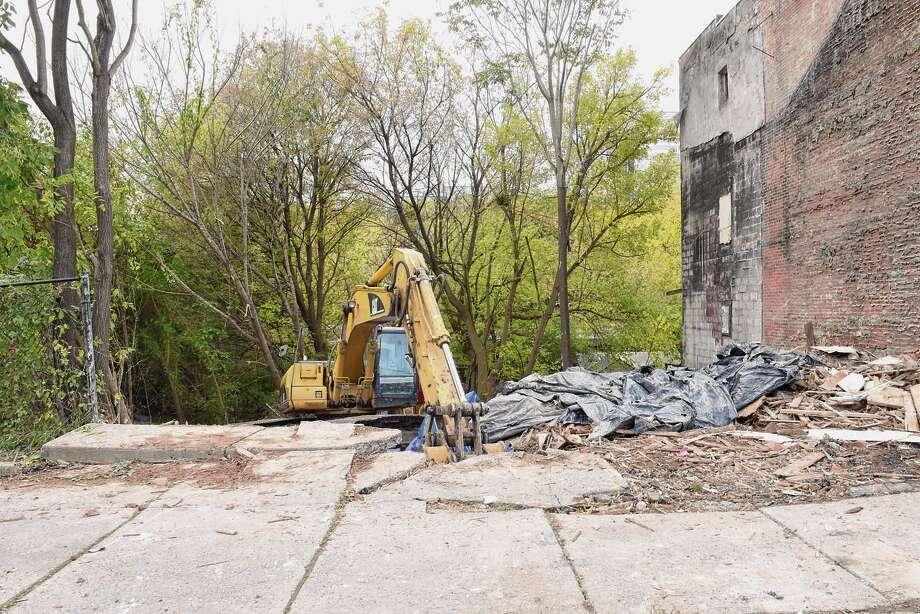 The Graham-Johnson family home at 170 Orange St. in Albany was razed in October. (Lori Van Buren/Times Union) Photo: Lori Van Buren / 40045295A