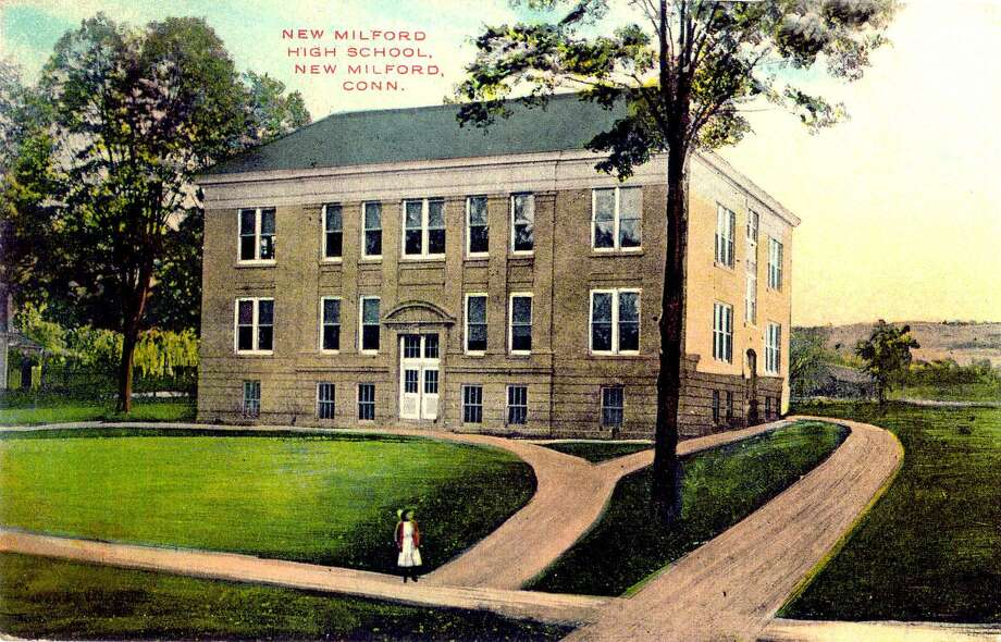 """The building now known as the Richmond Citizen Center along the Village Green in New Milford was built for use as New Milford High School in the early years of the 20th century. It later became an elementary school known as Main Street School before its conversion to serve as the home for the senior center, American Red Cross, Loaves & Fishes Hospitality House, Social Services and other programs. Most recently, it houses the senior center and Loaves & Fishes. An addition was recently constructed at the back of the building to accommodate more programs at the senior center. If you have a """"Way Back When"""" photograph you'd like to share, contact Deborah Rose at drose@newstimes.com or 860-355-7324. Photo: Contributed Photo / Contributed Photo / The News-Times Contributed"""