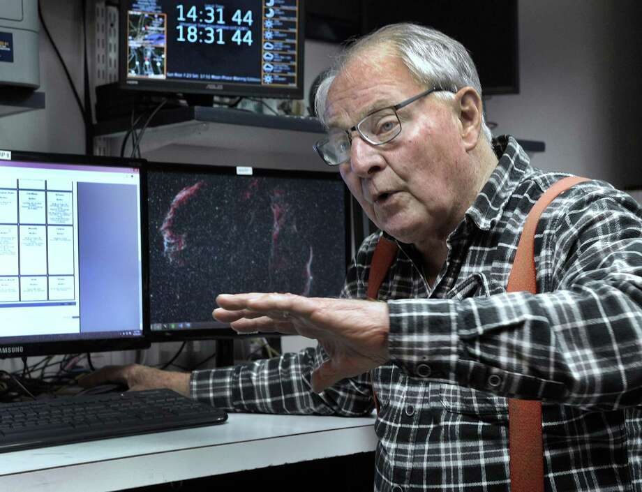 Monty Robson is the director of the John J. McCarthy Observatory in New Milford. Photo: Carol Kaliff / Hearst Connecticut Media / The News-Times