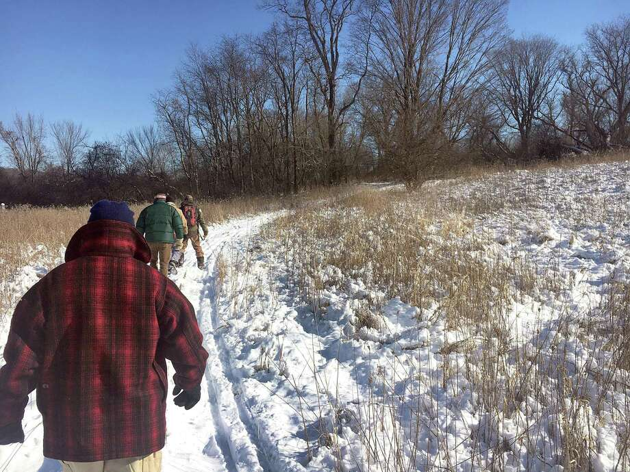 A group of 'citizen scientists' helped collect rabbit droppings at Macricostas Preserve in Washington last winter. Photo: Hearst Connecticut Media File Photo / The News-Times