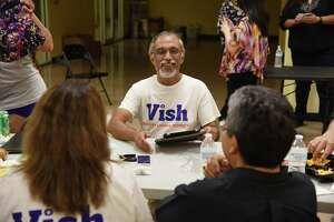 "Lakshmana ""Vish"" Viswanath talks to his supporters at his campaign headquarters, Tuesday, November 6, 2018."