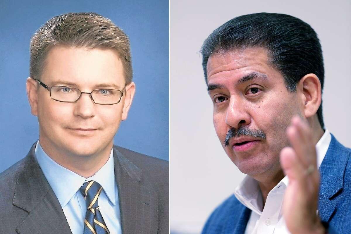 Harris County Precinct 2 Commissioner Jack Morman held a slim lead over Democrat Adrian Garcia.