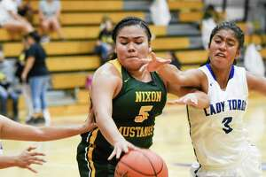 Alyssa Mata and Nixon opened the season with a 75-16 rout of Sharyland on Friday while Cigarroa won 49-47 over Eagle Pass.