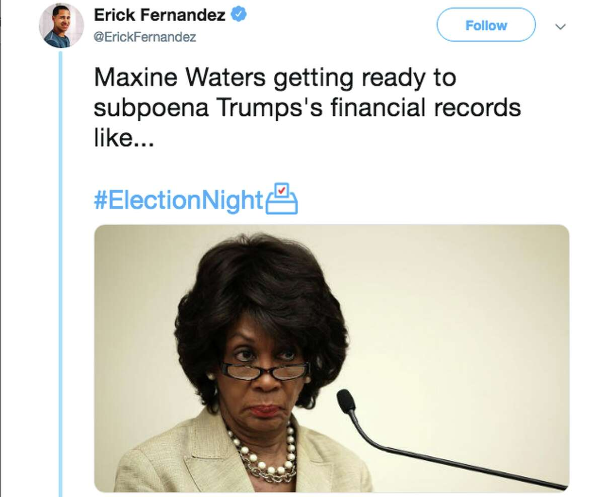 Twitter users react to Maxine Waters most likely taking over the House Financial Services Committee.