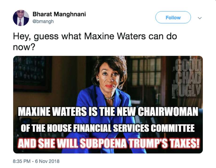 Twitter users react to Maxine Waters most likely taking over the House Financial Services Committee. Photo: Twitter