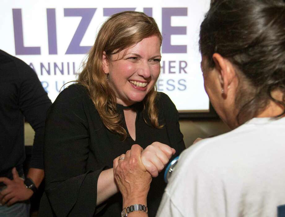 Democrat Lizzie Pannill Fletcher greets her supporters as they celebrate her win over John Culberson in the race or the 7th Congressional District seat in the House of Representatives on Wednesday, Nov. 7, 2018, in Houston. Photo: Brett Coomer, Staff Photographer / © 2018 Houston Chronicle