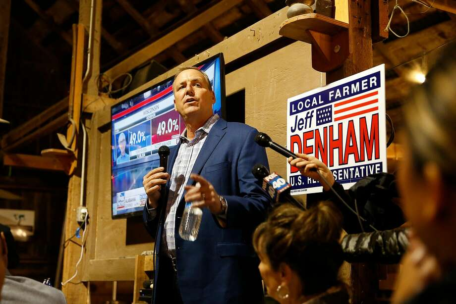 Jeff Denham of California's 10th Congressional District speaks during an election night party on November 6, 2018 in Modesto, California. Photo: Stephen Lam / Getty Images