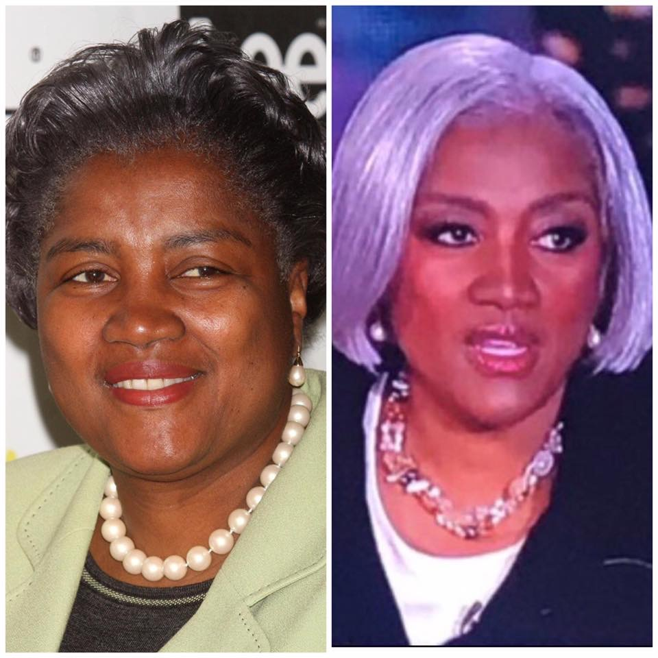 Donna Brazile's election-night makeover has social media buzzing