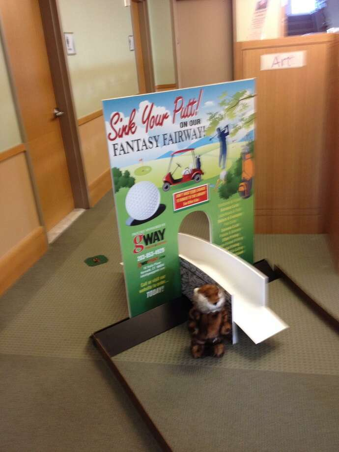 The Stratford Library Board of Trustees will be staging a fundraiser on Friday and Saturday, Nov. 9 and 10, when the library will be transformed into a golf course in miniature. Photo: Contributed Photo /