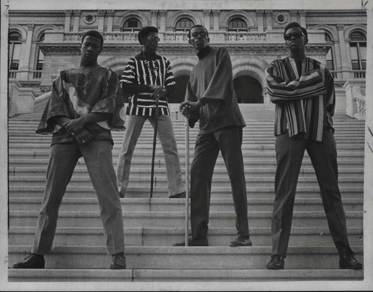 Young men pose for photo in Albany, New York. November 1968. (Times Union Archive)