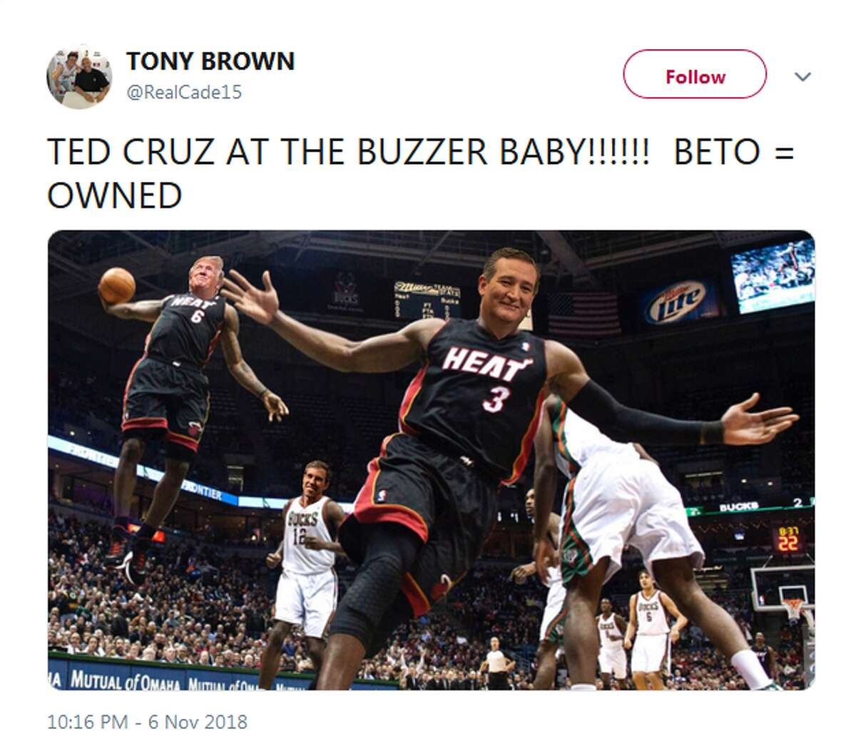 @RealCade15: TED CRUZ AT THE BUZZER BABY!!!!!! BETO = OWNED