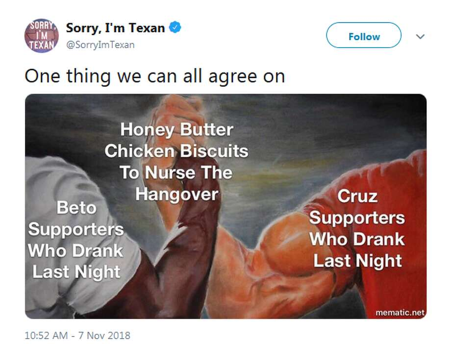 @SorryImTexan: One thing we can all agree on Photo: Twitter Screengrabs