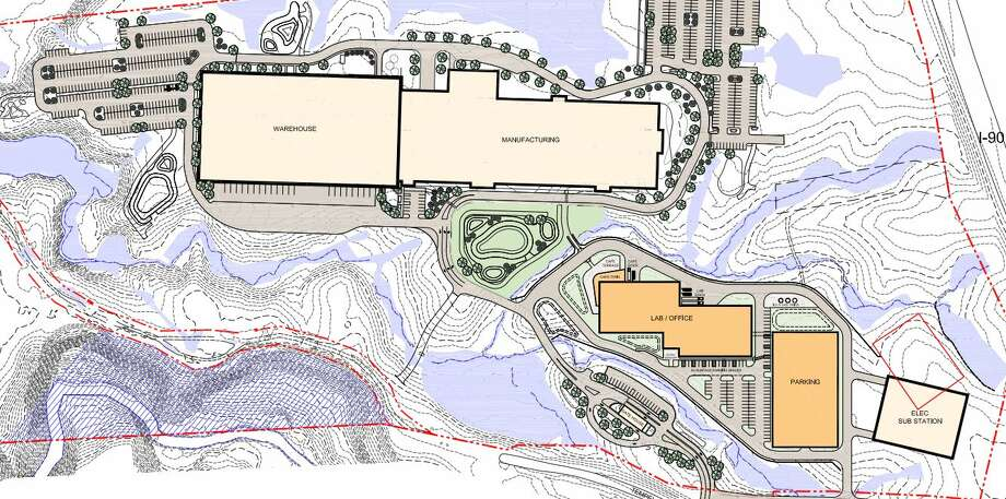 A site plan of the new Regeneron campus being built on Tempel Lane in East Greenbush. The warehouse is built, but the other buildings still need approval Photo: East Greenbush Town Board