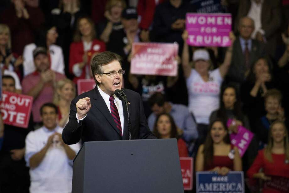 Winners in elections on Tuesday — such as Lt. Gov. Dan Patrick — can derive a lesson from historically low margins of victory. They represent deeply divided constituencies — and then govern to unite. Photo: Loren Elliott /Getty Images / 2018 Getty Images