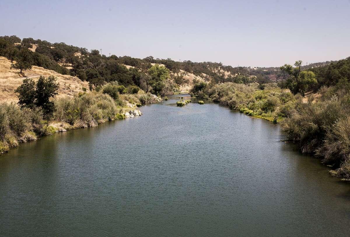 The Tuolumne River is seen from Old La Grange Dam Road in La Grange, Calif. Friday, Aug. 17, 2018.