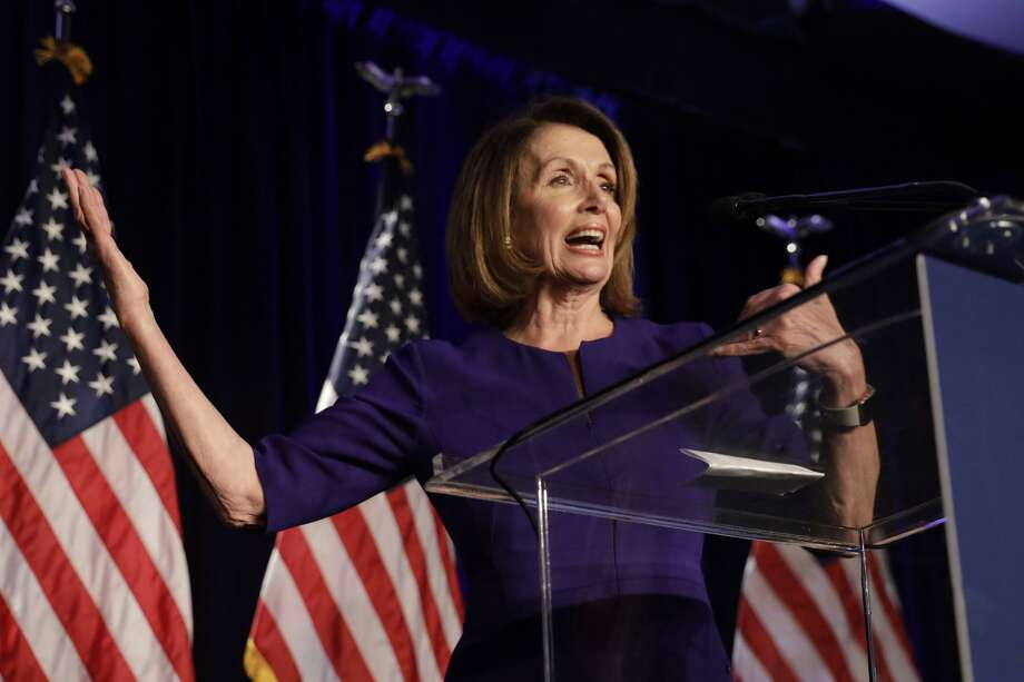 House Minority Leader Nancy Pelosi, D-Calif.. on election night. Photo: Yuri Gripas, Bloomberg / Bloomberg / © 2018 Bloomberg Finance LP