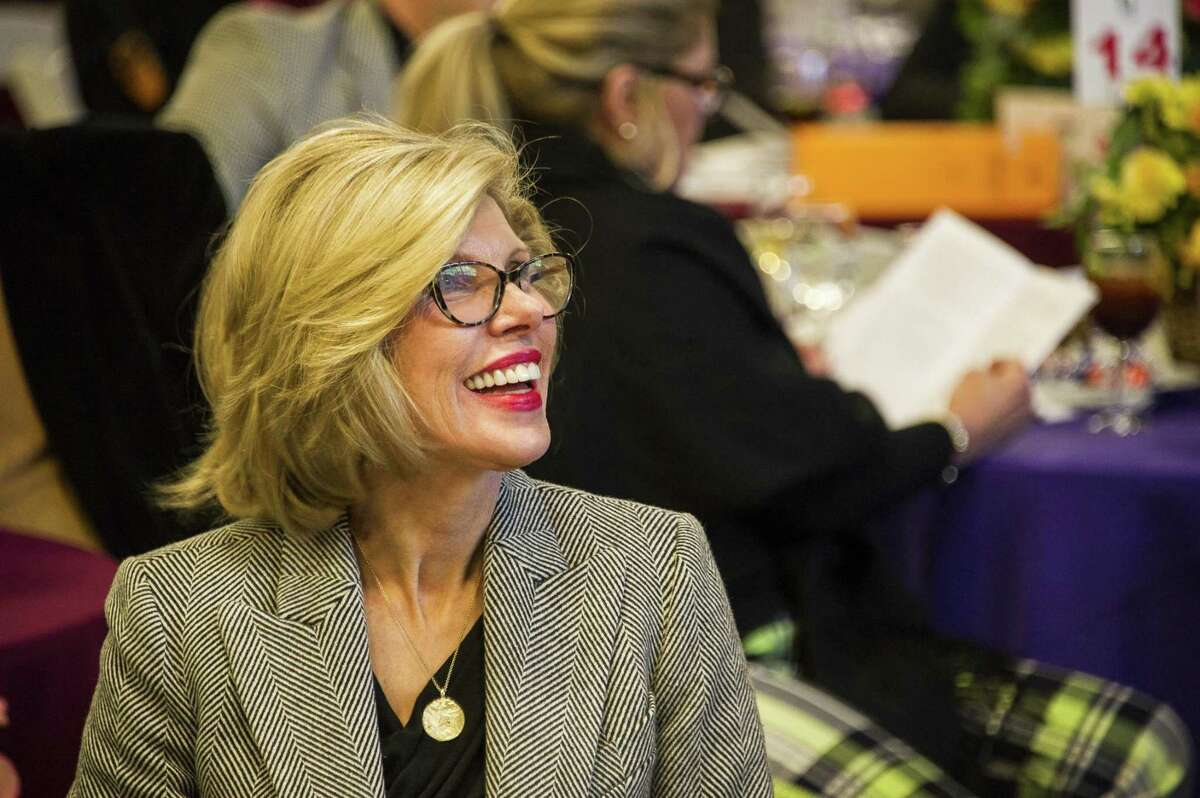 Christine Baranski is busy with television work, but also finds time to be a board member on the Housatonic Valley Association in Connecticu. Below, Baranski in