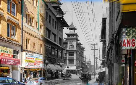 A view of China Town as seen in this 1910 image.  Historic photo byWikimedia Commons. Photo: Orbitz