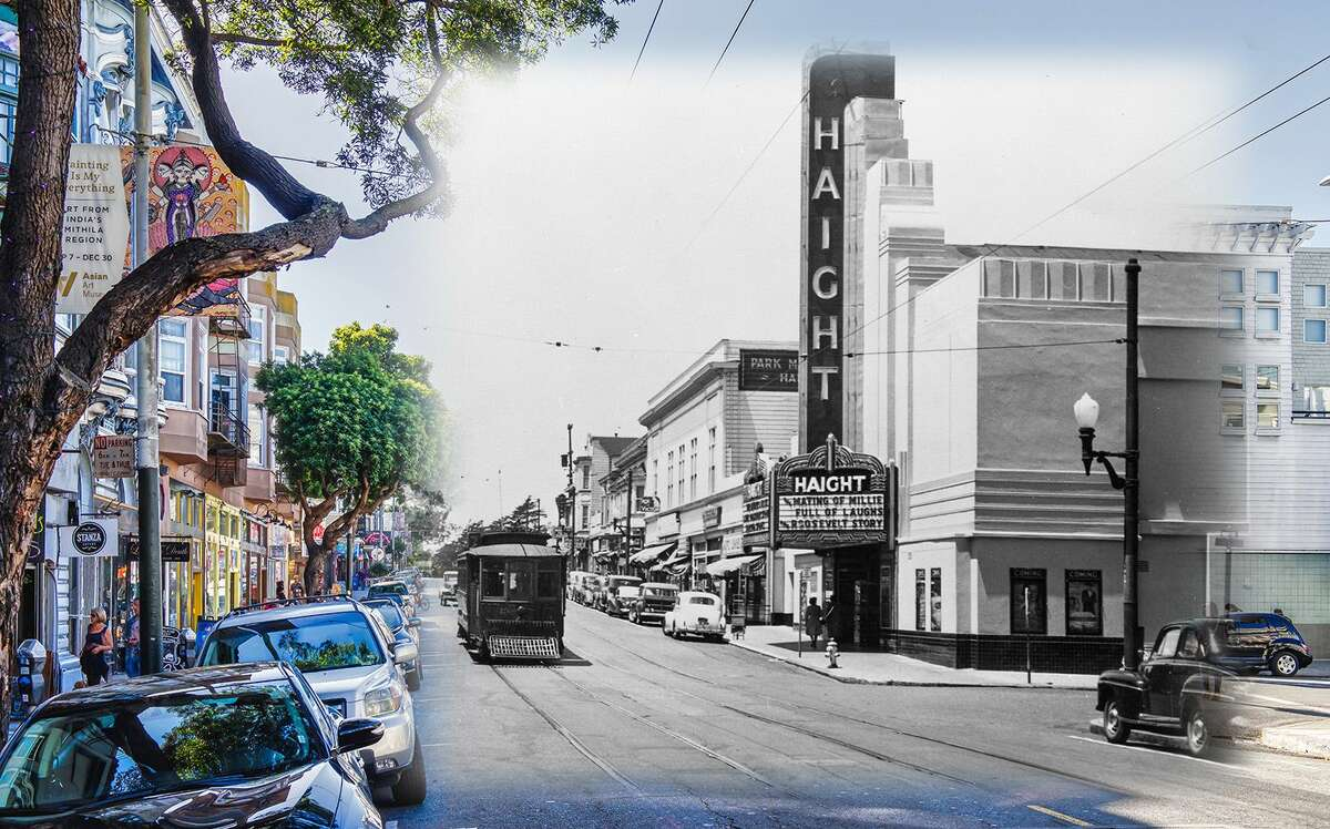 A view of Haight Theater in this 1948 file image. The theater was eventually closed in 1964 and ultimately demolished by 1981 where spectators gathered to watch the end of the historic structure. Historic image byOpenSF History.