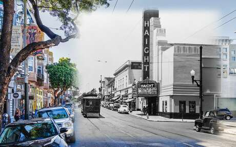 A view of Haight Theater in this 1948 file image. The theater was eventually closed in 1964 and ultimately demolished by 1981 where spectators gathered to watch the end of the historic structure.
