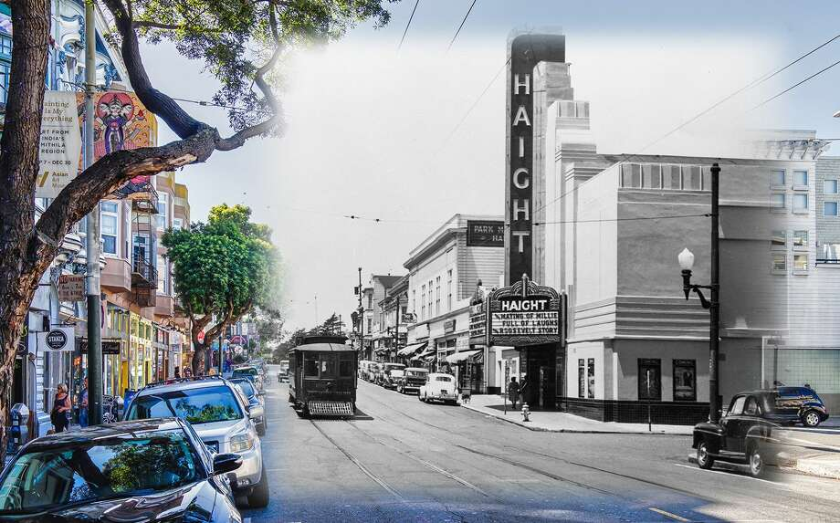 A view of Haight Theater in this 1948 file image. The theater was eventually closed in 1964 and ultimately demolished by 1981 where spectators gathered to watch the end of the historic structure.  Historic image byOpenSF History. Photo: Orbitz