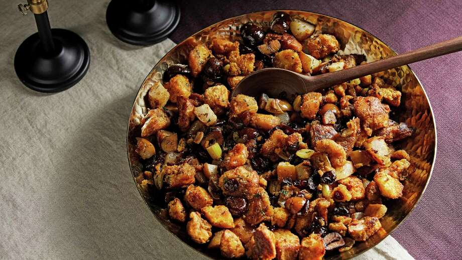Sheet Pan Stuffing With Chestnuts. Photo: Photo By Tom McCorkle For The Washington Post. / The Washington Post