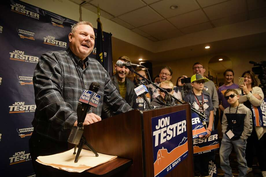 Democratic Sen. Jon Tester prevailed in a tight re-election race, securing a third term in a state President Trump won by 21 points in 2016. Photo: Thom Bridge / Associated Press