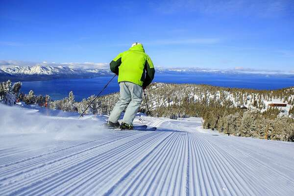 At Heavenly Mountain Resort, Sky Express provides access to intermediate runs that span miles with a Lake Tahoe frontage