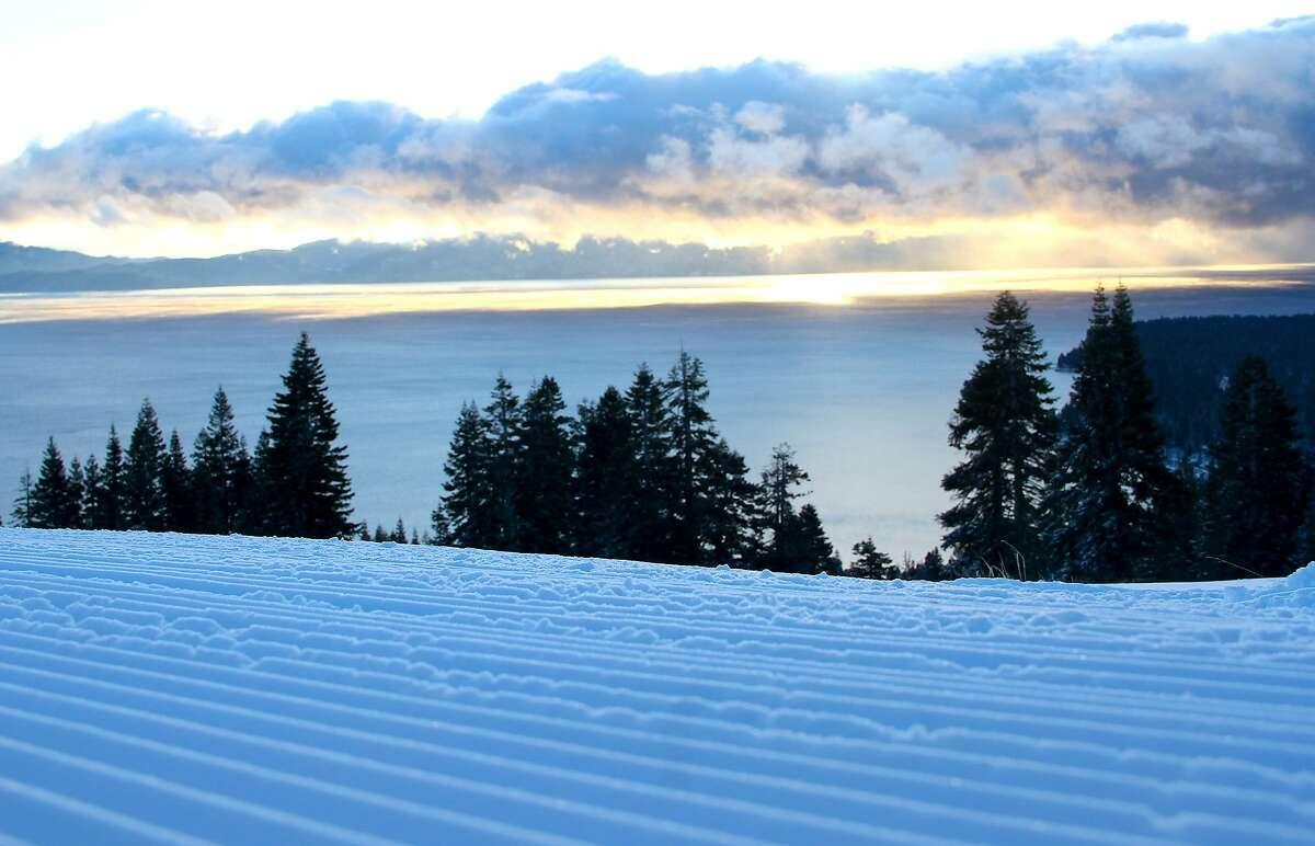 At Homewood Mountain Resort, a�mosaic of intermediate runs face Lake Tahoe