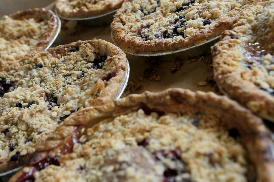 Mission Pie's pear blueberry pies in S.F. Photo: Santiago Mejia / The Chronicle 2015