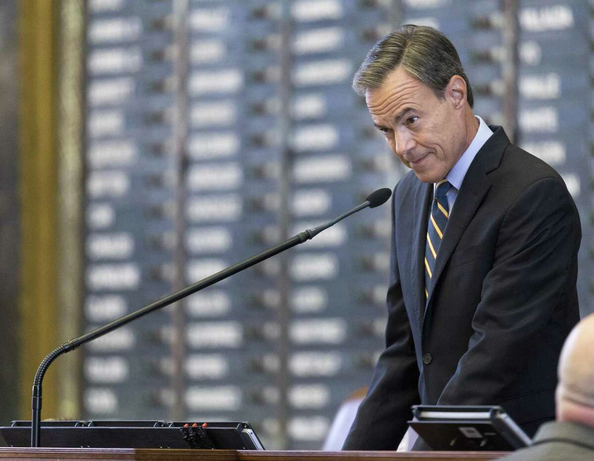 Texas Speaker of the House Joe Straus, R-San Antonio, presides over the Texas House of Representatives on the seventh day of a special session at the Texas Capitol in Austin, Monday, July 24, 2017. (Stephen Spillman / for Express-News)