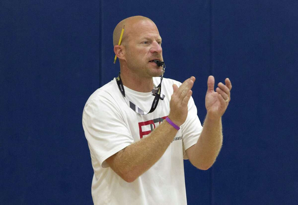 Lake Creek head coach Shannon Spencer is seen during a basketball camp at Oak Hills Junior High School on Wednesday, June 13, 2018, in Montgomery.