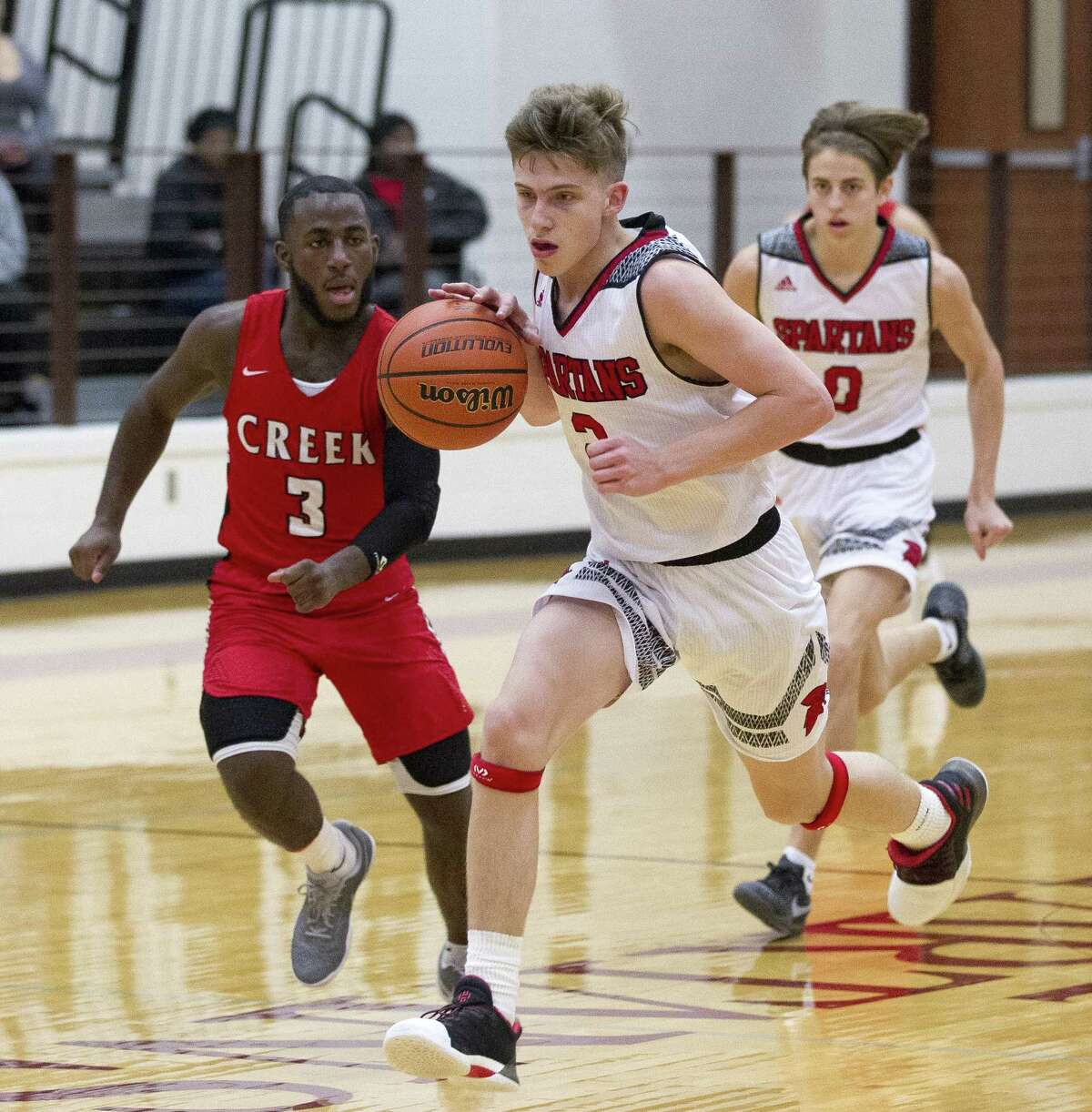 Pierce Spencer, shown here last year playing for Porter, joins his father Shannon Spencer at Lake Creek this season.