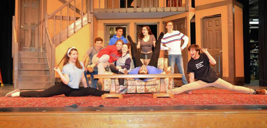 "Cast of ""Noises Off"" as put on by the Strawberry Hill Players of Stamford High - their final two shows will be Nov. 9 and 10 at 8 p.m. at Stamford High School in Stamford, Conn. Photo: Contributed Photo / Contributed Photo / Stamford Advocate contributed"