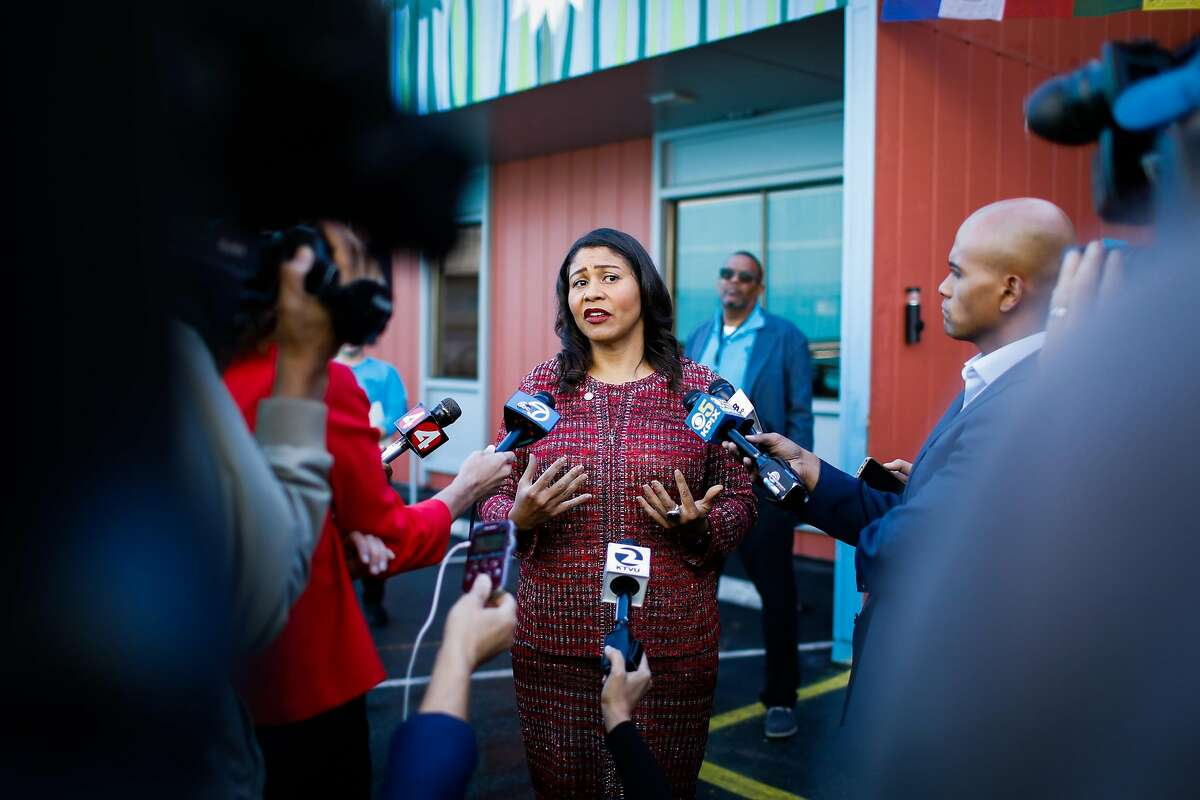 Mayor London Breed speaks to the press in San Francisco on Nov. 7, 2018.