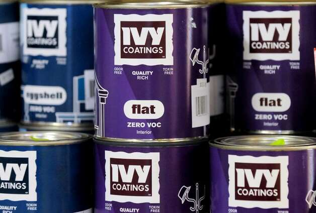 Non-toxic Ivy Coatings paint has no volatile organic compounds. (Cindy Schultz / Times Union) Photo: CINDY SCHULTZ