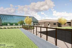 Renderings of the new agriscience building that is being constructed at Shepaug Valley School.