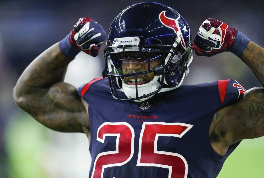 PHOTOS: Texans vs. Jets Houston Texans strong safety Kareem Jackson (25) reacts during the second quarter of an NFL football game at NRG Stadium on Thursday, Oct. 25, 2018, in Houston. >>>See more game action from the Texans' win against the Jets on Sunday ... Photo: Brett Coomer, Houston Chronicle / Staff Photographer / © 2018 Houston Chronicle