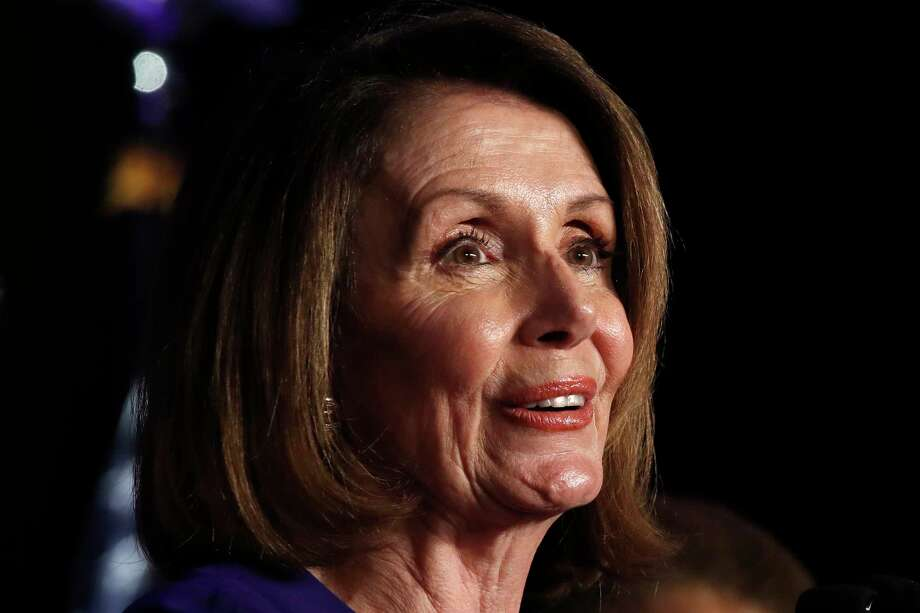 House Minority Leader Nancy Pelosi of Calif., speaks about Democratic gains in the House of Representatives to a crowd of Democratic supporters during an election night returns event at the Hyatt Regency Hotel, on Tuesday, Nov. 6, 2018, in Washington. (AP Photo/Jacquelyn Martin) Photo: Jacquelyn Martin / Copyright 2018 The Associated Press. All rights reserved.