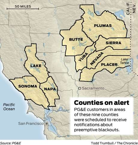 CA wildfire threats could lead PG&E to cut power to parts of