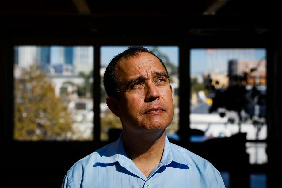 Tony Montoya, the President of the Police Union, stands for a portrait at his office in San Francisco, California, on Wednesday, Oct. 24, 2018. He was diagnosed with a brain tumor eight years after working at the former Hunters Point Naval Shipyard where there was contaminated soil. Photo: Gabrielle Lurie, The Chronicle