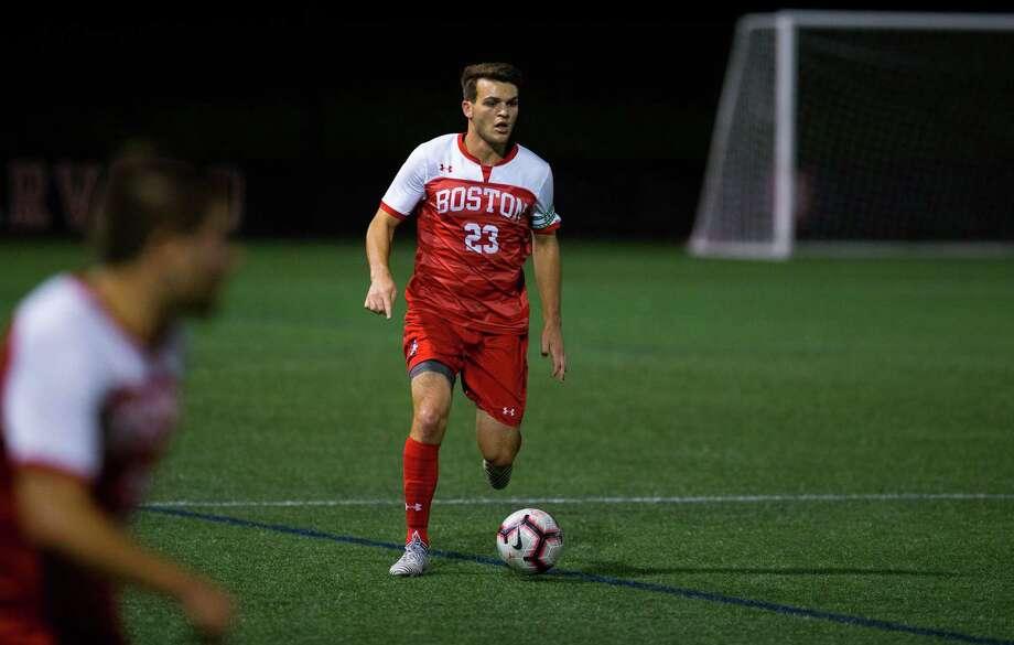 Shaker High graduate David Riccio of the Boston University men's soccer team. Photo: Rich Gagnon, Rich Gagnon / Boston University / 2018 Boston University Athletics