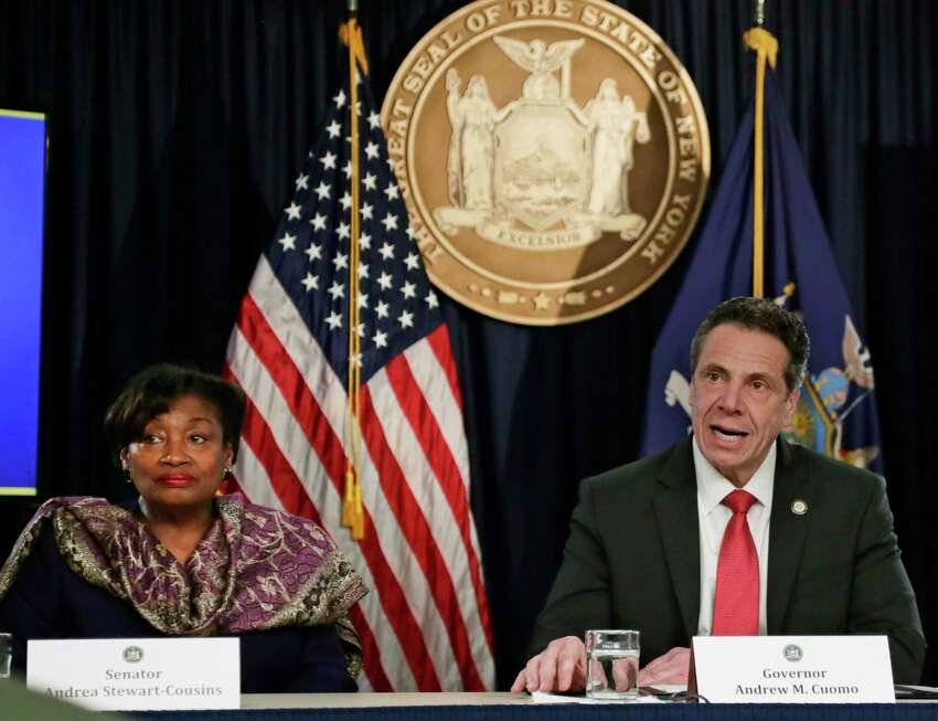 The final month of negotiations between Democratic lawmakers and Gov. Andrew Cuomo over the state budget is off to a rocky start. (AP Photo/Frank Franklin II, File)