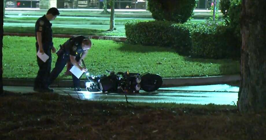 A motorcyclist died in a hit-and-run at Louetta and 249 on Wednesday, Nov. 7, 2018. Photo: Metro Video