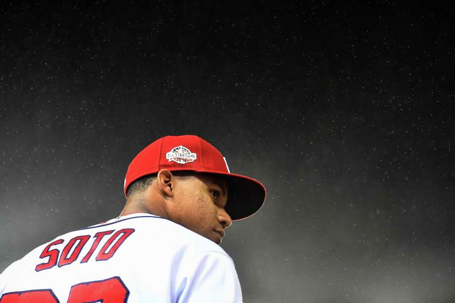 After an unexpected call-up by the Nationals at age 19, Juan Soto has a legitimate case for NL rookie of the year, which will be announced on Monday. Photo: Washington Post Photo By Katherine Frey / The Washington Post