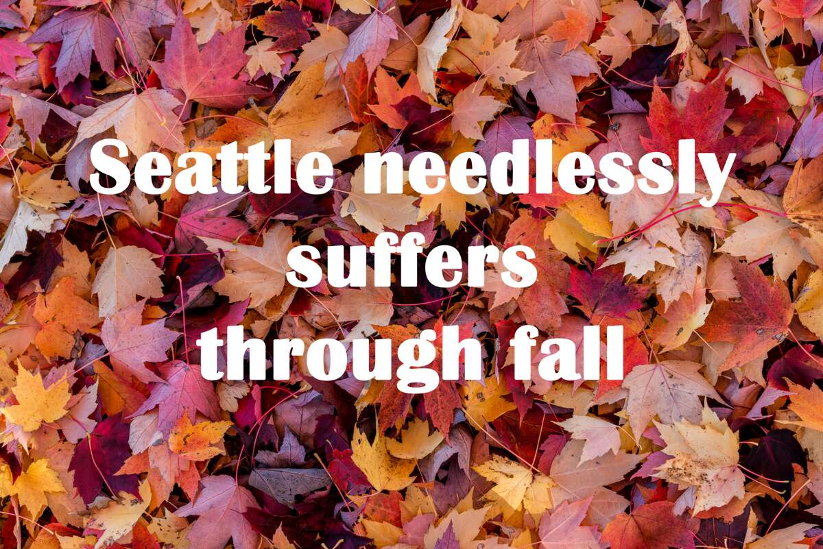 The air is cooler, the days are shorter and the sky is grayer. It's fall, and though some of us welcome the change, some of us struggle -- even more than we really need to. Here are some of the ways Seattle suffers through fall, even though we really don't need to.